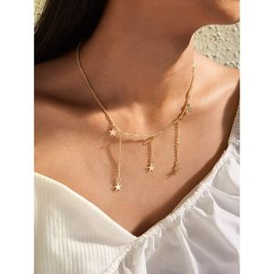 Gold Mini Stars Charm layered delicate necklace